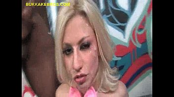 ebony mass ejaculation for fantastic silver-blonde