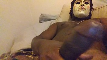 masked guy with longdick cumblast