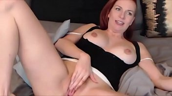 Amazing red head Alice White with huge natural DD boobs