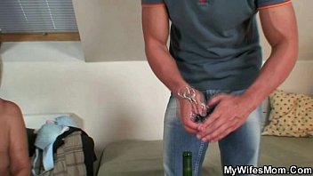 he finds his gf039_s mom bare and pulverizes her