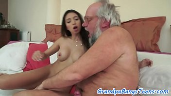 meaty-chested youthful stunner pleasing oldmans shaft