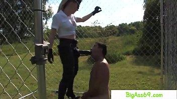 english dominatrix handballing hideous slaves bum