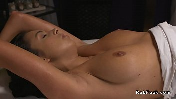 sandy-haired russian masseuse lubes nude dark-hued-haired