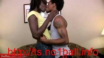 unexperienced dark-hued transgirl gets huge manstick in her.