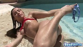mind-blowing bathing suit honey jerks by.