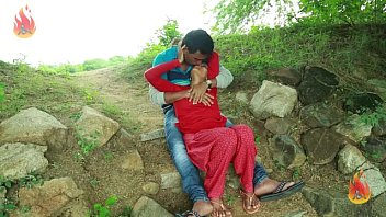 village aunty romance with neighbour in outdoor.