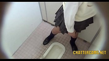 urinating japanese teenage onanism rest room.