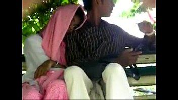 Pak lovers handjob and fingering in public