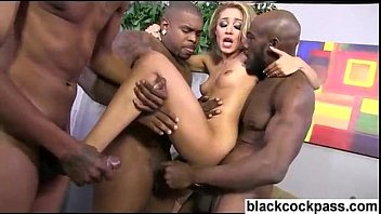 bum-penetrate bi-atch violent interracial gang-boink double.