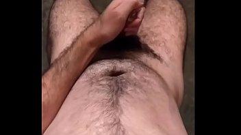 Hairy man hard dick cumming