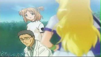anime teenager school damsel boobed in.