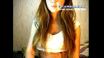 Blonde super hot teen seduced to masturbate on webcam chat with strangers