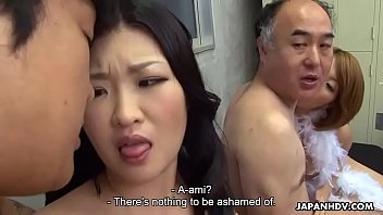 two japanese wives get banged and facialized side.