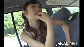japan sweetie luvs vibrating her fuckbox and donk.