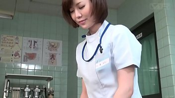 Subtitled CFNM Japanese female doctor gives patient handjob