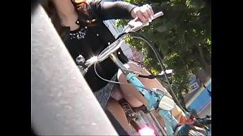 jade phi - p10-01 - upskirt ladies on bicycles