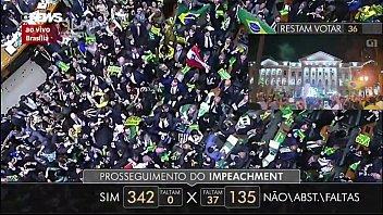 brazilian cougar president public abjection gang-bang 340  mans
