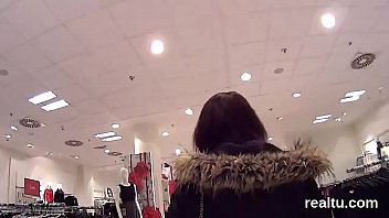 glamorous czech teenie gets tempted in the store.