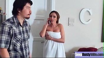 Big Round Boobs Wife (Ariella Ferrera) Banged Hard Style In Sex Tape vid-05