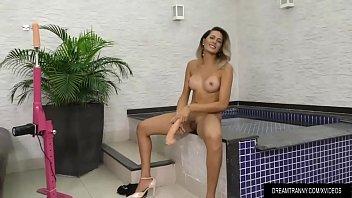 transsexual whore bella atrix crams her cock-squashing culo.