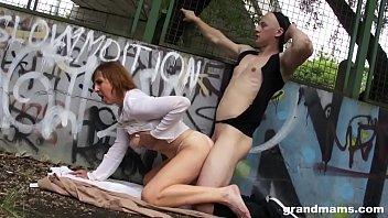 grannie luvs public orgy at the.