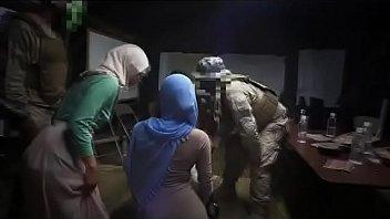 two arab teenage street prostitutes deep-throating boner point.