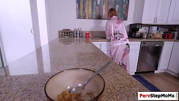 step-mother bj's off and faps her stepson039_s hefty impaler