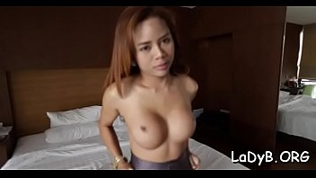 thai transsexual gives a gargle and practices coarse.