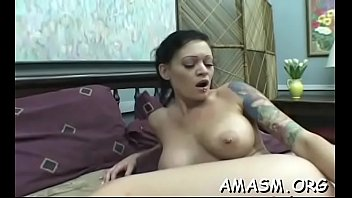 female throttling spouse in supah-naughty home porno video.