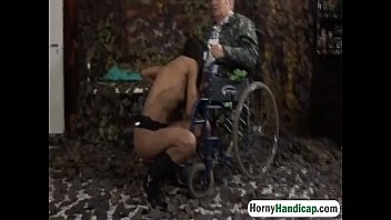 handicapped grandfather gets lucky with glorious.