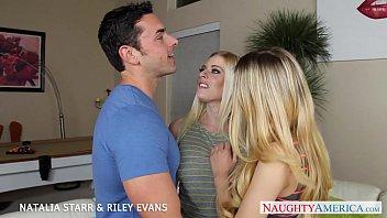 towheaded hotties natalia starr and riley evans in three-way