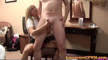 magnificent cfnm stunner fapping schlong adorably