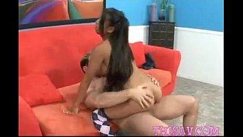 Asian teens tight ass rides big cock