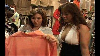 lezzie japanese femmes smooching in switching.