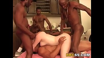 interracial gang-nail with chesty jennifer