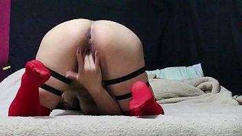 mexicana con medias rojas