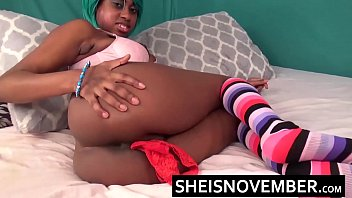 Stuffing Panties Ebony Pussy Extreme Finger Fuck Sideways Doggystyle Missonary