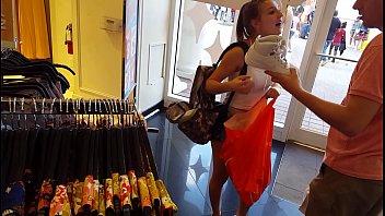 candid nubile shopping supah-hot spandex cutoffs