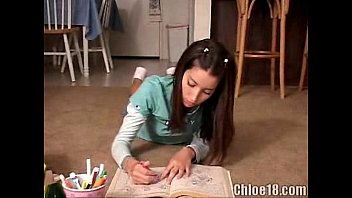 chloe drawing and wanking