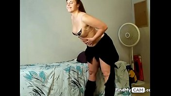 fantastic round blond honey on cam stripteasing and.