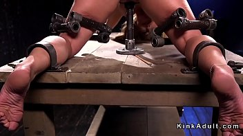 feet and beaver torment for ash-blonde.