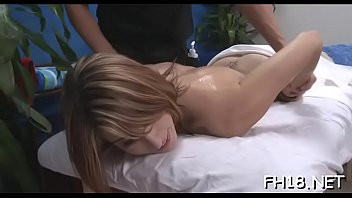Sweet babe loves massage and large cock  in her pussy