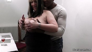 dark-hued hubby caught hotwife with light-haired.