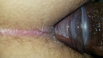 yam-sized ebony transgirl spear in my cock-squashing milky rump