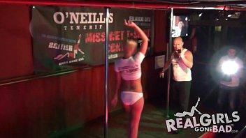 fabulous school ladies de-robe bare in public on stage
