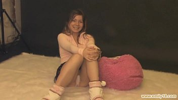 tempting nubile in pinkish hoodie