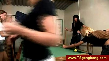 pool game finishes up with she-masculine.