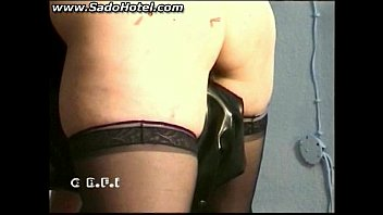 Master sticks needles in ass of slave and spanks her bdsm