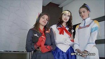 hidden cam bj'ed by trio costume have fun honeys