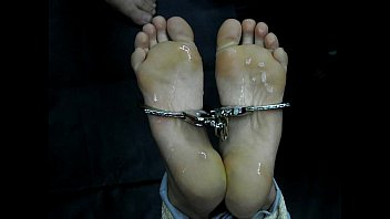feet fap restrict bondage gal